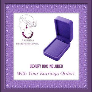 Areshna Jewelry - Ruby Swarovski Crystals Royal Earrings